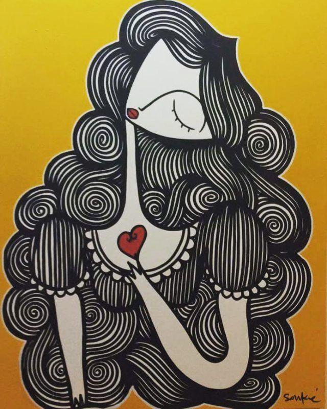 """Στιγμιότυπα από την ατομική έκθεση του street artist Sonke στην γκαλερί """"Tesla"""" της BABEL ! Photo by Magda Kaloriti  #babelarcore #BABEL #art #streetart #sonke #marousi #έκθεση #ζωγραφική"""