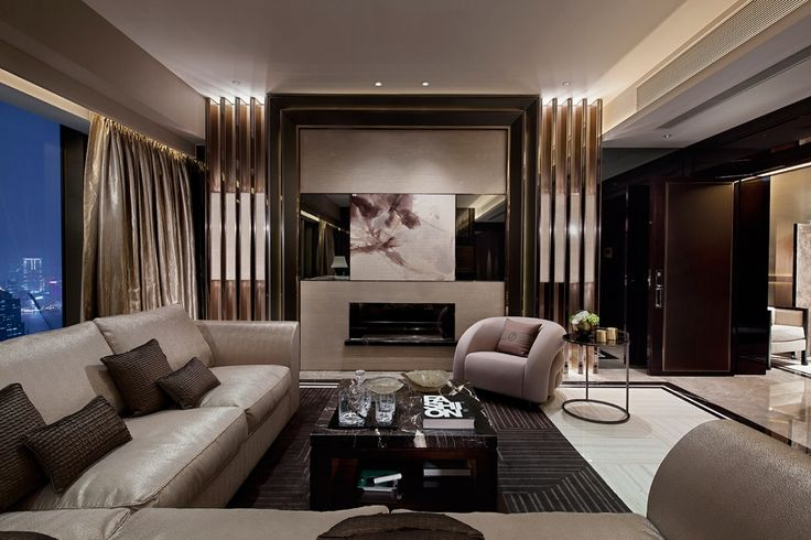 modern contemporary living room with luxury brown sofas and fireplace kbhome luxu living room vip pinterest
