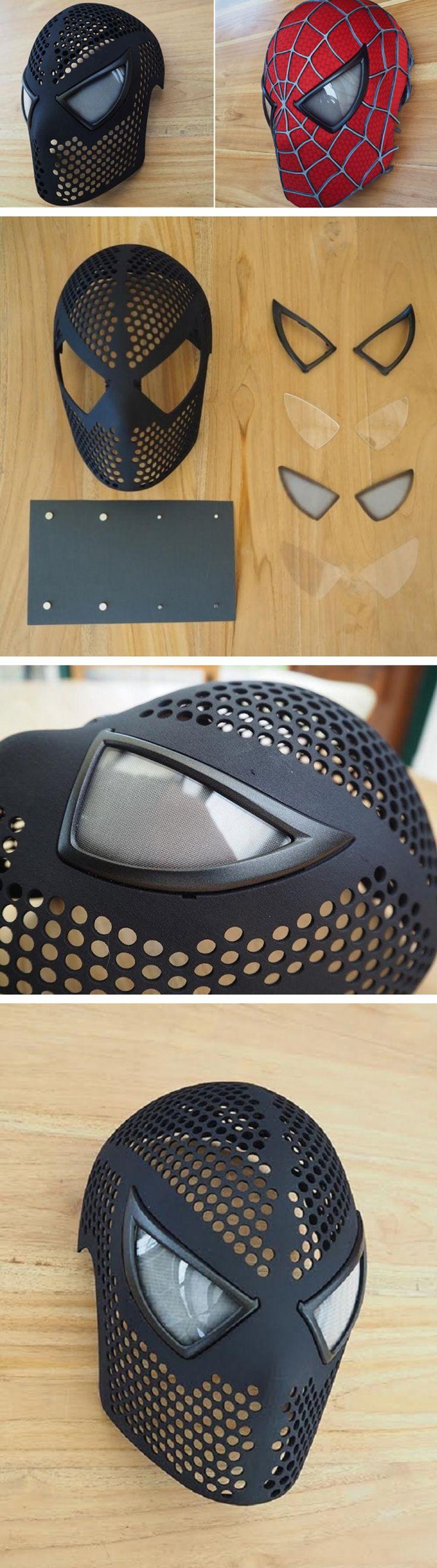 Costume designer Yuri Schuurkes designed a 3D printed Spider-man mask you can buy! (Diy Halloween Mask)