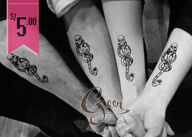 Tatuaje temporal de la Marca Tenebrosa