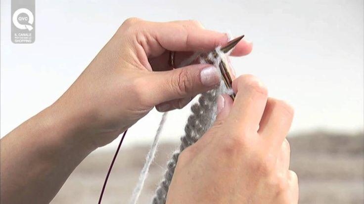 Realizzare una sciarpa a maglia N.3. Tecnica continentale ai ferri circolari per principianti
