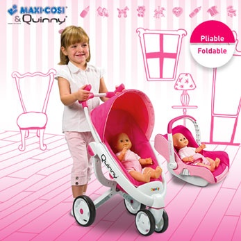 Quinny / Maxi Cosi Play Pram and Capsule  // Have to get this for Gigi! It's her stroller & car seat but baby doll version!