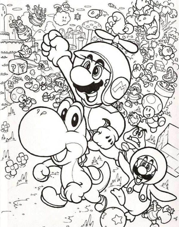 74 best images about coloring on pinterest for Mario and luigi and yoshi coloring pages