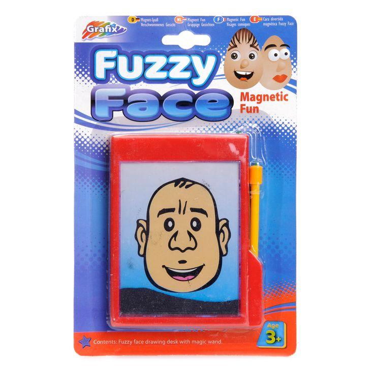Maak de leukste gezichten met deze magneetfun. Neem het magnetisch toverstokje uit de houder. Beweeg het toverstokje over de fijne haartjes om deze naar de gewenste plaats te slepen. Door het toverstokje op te tillen, blijven ze op hun plaats. Afmeting: verpakking 15 x 23 cm - Magneet Fun - Grappige Gezichten
