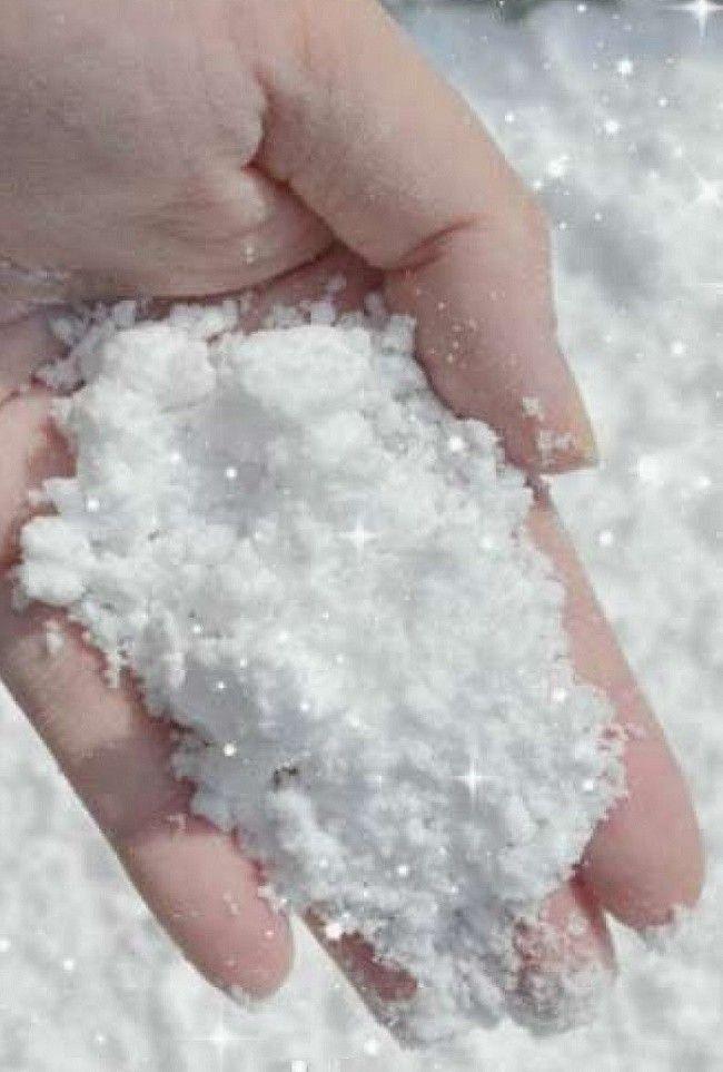 Из чего сделать снег для открыток