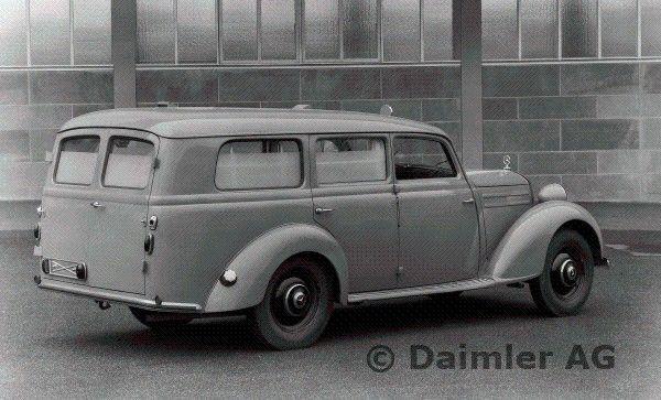 mb typ 170 s d krankenwagen aufbau lueg mercedes benz w 136 191 wagon specials e class. Black Bedroom Furniture Sets. Home Design Ideas