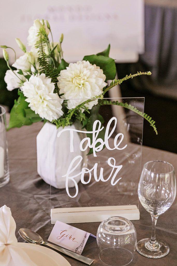 Acrylic Table Numbers - Lovebird Weddings, Noosa Australia