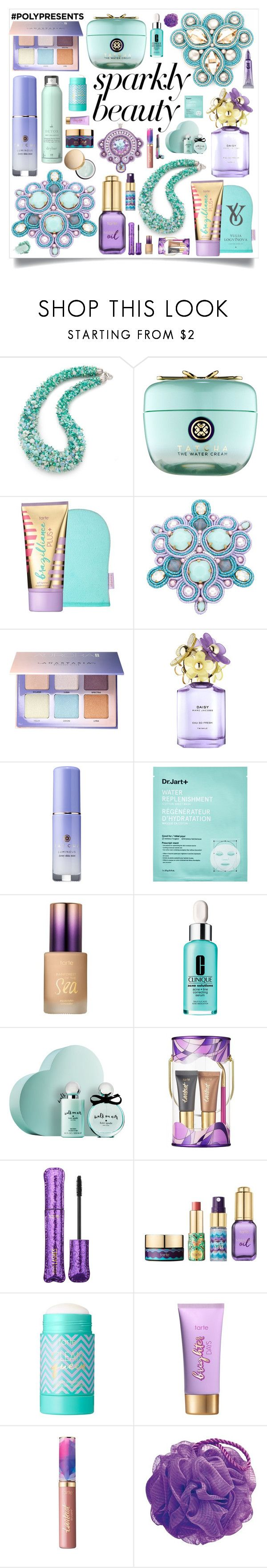 """""""#PolyPresents: Sparkly Beauty"""" by okatava ❤ liked on Polyvore featuring beauty, Tatcha, Sephora Collection, Anastasia Beverly Hills, Marc Jacobs, Nails Inc., tarte, Kate Spade, Puma and contestentry"""