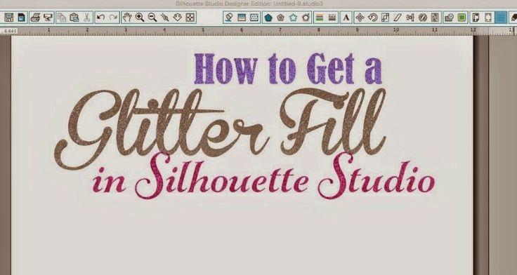 How to Make a Glitter Fill in Silhouette Studio ~ Silhouette School