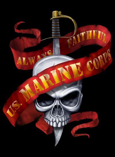 marines wallpaper sword and skull always faithful - Google ...