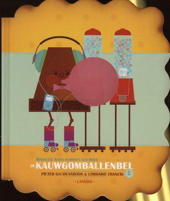 // Pieter Gaudesaboos & Lorraine Francis - De kauwgomballenbel // Chocolaatje wil de grootste kauwgombal ooit blazen… op rolschaatsen! Alles en iedereen plakt eraan vast, en wordt pas bevrijd als chocolaatje in de vijver valt. Hij breekt naast zijn gedroomde record ook het record voor de grootste hoop aan-elkaar-geplakte-mensen-en-dingen. Deel uit de reeks 'Mannetje koek schrijft een boek'. Vanaf 3 jaar.