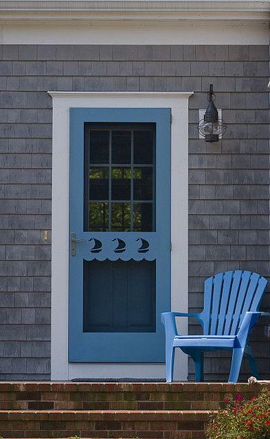 Cape Cod Cottage ~ blue, gray, white