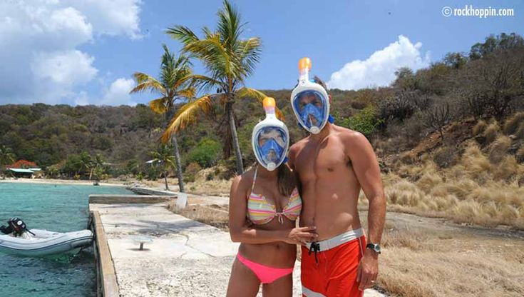 Easybreath snorkeling mask for your powerboat charter – Rockhoppin' Adventures