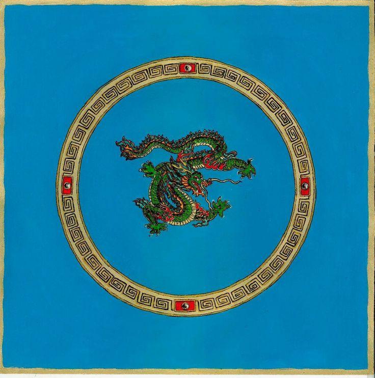 Sárkánymandala  Részletek:  Párbeszéd álmainkkal 4. Egy saját történet: Száll a kéz, mint a felhő A tai chi gyakorlatok hatása az álomképek változására http://astroconsult.ingyenblog.hu/szall-a-kez-mint-a-felho-–-a-zold-sarkany-mandalaja.blog