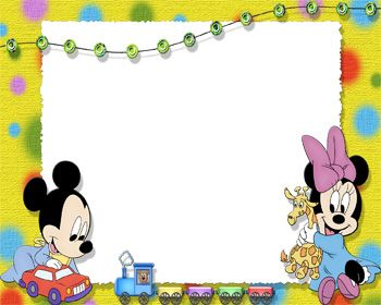 free disney borders baby mickey and baby minnie photo frame frame 123