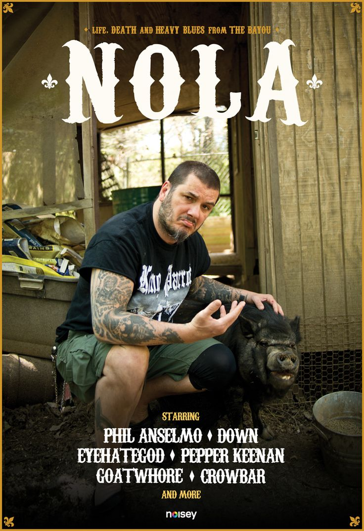 Noisey is proud to present NOLA: Life, Death and Heavy Blues from the Bayou, a seven-part series examining the people and the culture that helped foster bands like DOWN, Eyehategod, Crowbar, Goatwhore and many others. From the crawfish-littered tables of the secluded Anselmo compound to a fishing boat with Eyehategod in the swamps, we'll discuss the bands, Hurricane Katrina, drugs, suicide, murder, and records that helped shape the New Orleans sound known the world over.
