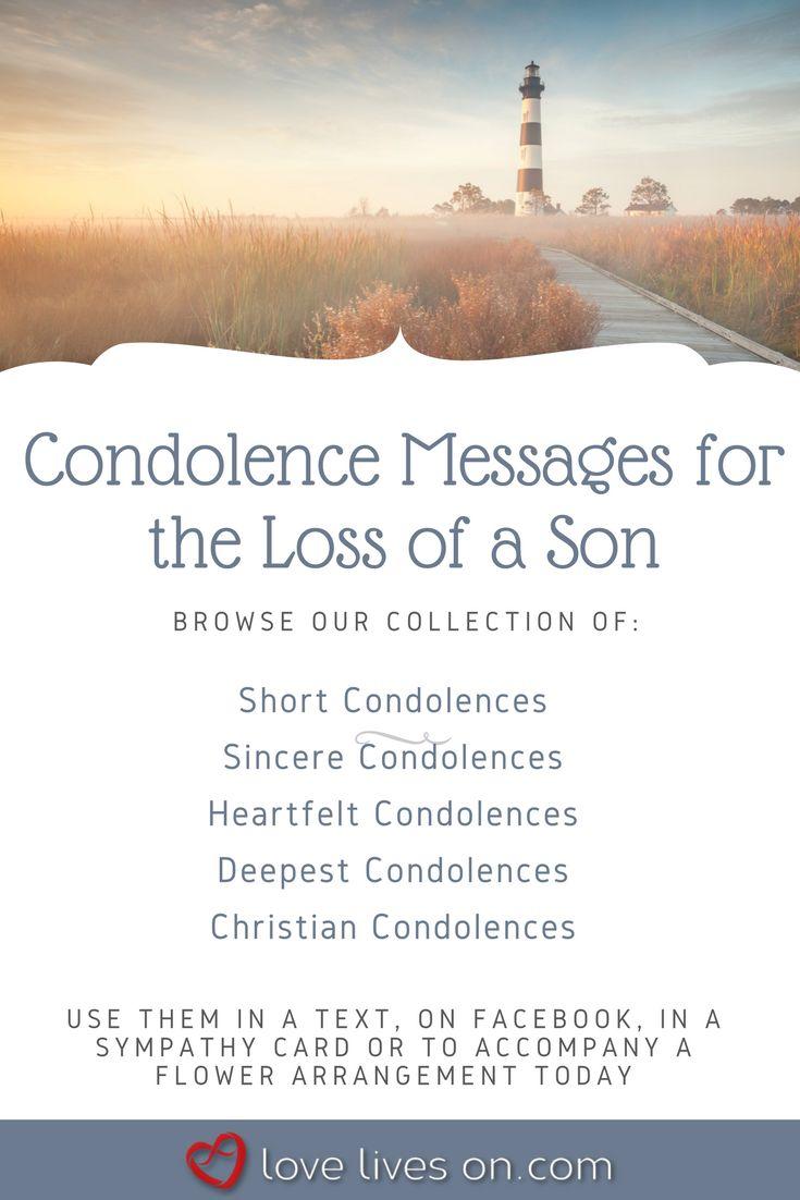 Loss Sympathy Card Son