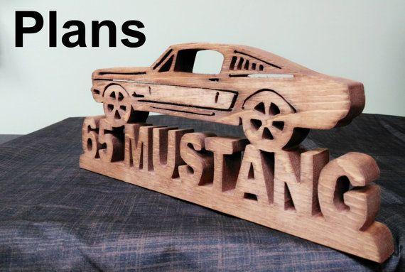 1965 Mustang Ford Fastback Scrollsaw Plans par DennysWoodcraft