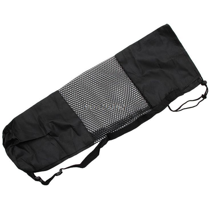 1PC Portable Adjustable Strap Yoga Pilates Mat Nylon Bag Carrier Mesh Center Holder  Price: 6.63 & FREE Shipping  #hashtag4
