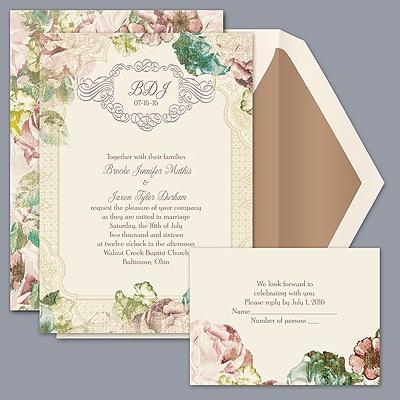 Vintage Blossoms - Invitation