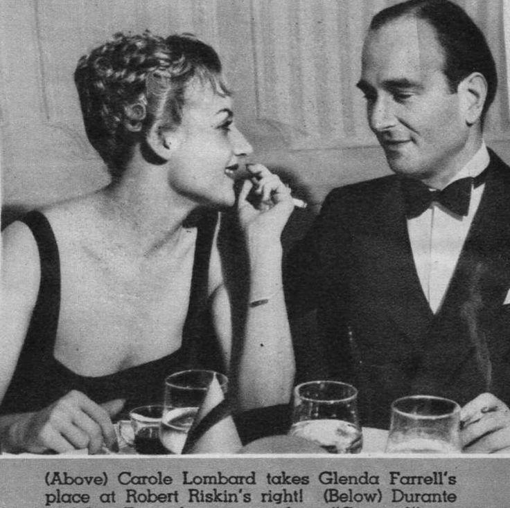 Carole Lombard and screenwriter Robert Riskin