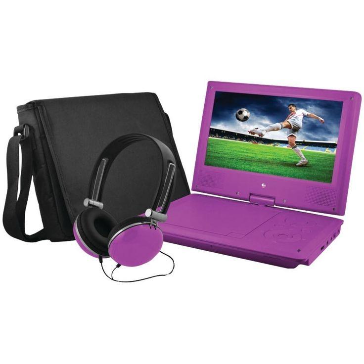 ematic epd909pr 9 portable dvd player bundles purple