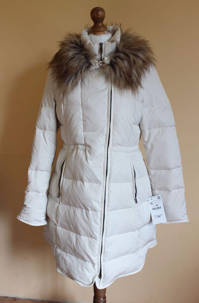 BNWT Zara Woman cream winter jacket coat size XL #Zara #Outdoor