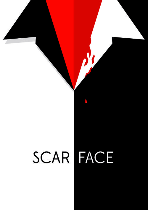 Minimalist movie posters (Scarface)