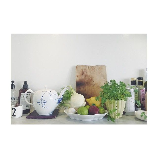 Morning in my kitchen. #saturday @royalcopenhagen @made_a_mano @designletters @moshimoshimind @urtekram @brostecph