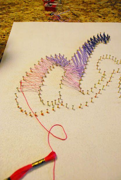 String art on cork