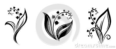 lily-valley-flowers-black-silhouettes-vector-white-background-36619161.jpg (400×171)
