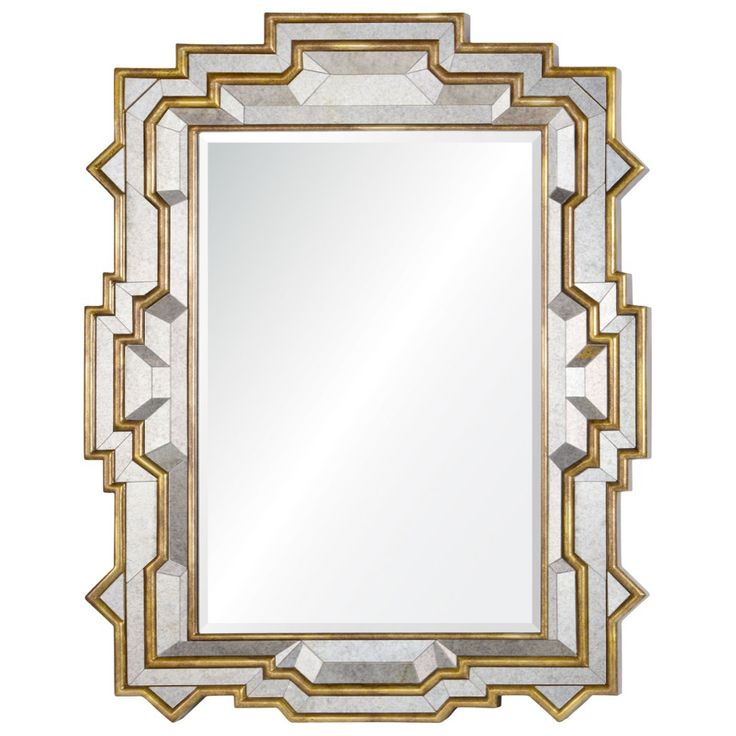 40 w x 48 h gold jagged edges mirror moncada pinterest for Mirror 48 x 60