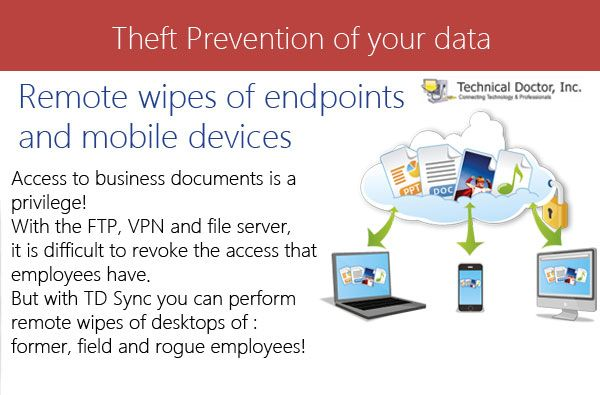 Remote wipes of endpoints and mobile devices