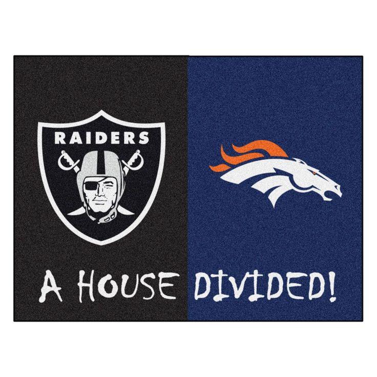 Broncos vs Raiders Rivalry Rug