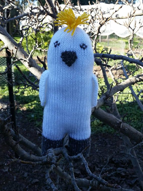Check out this item in my Etsy shop https://www.etsy.com/au/listing/518982481/hand-knitted-australian-cockatoo