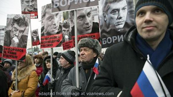 Memorial March after the Assassination of former Deputy Prime Minister and Russian Opposition Figure Boris Nemtsov ... Russia-related news at the JRL, www.russialist.org