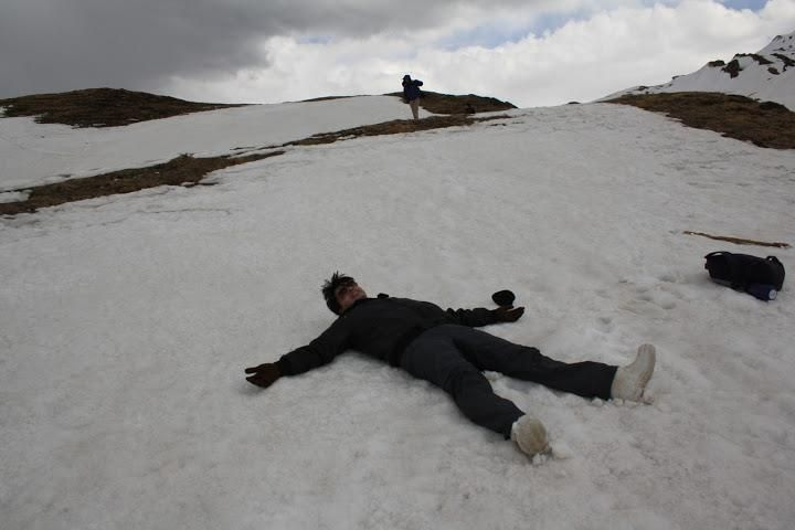 Relaxing on the snow :)
