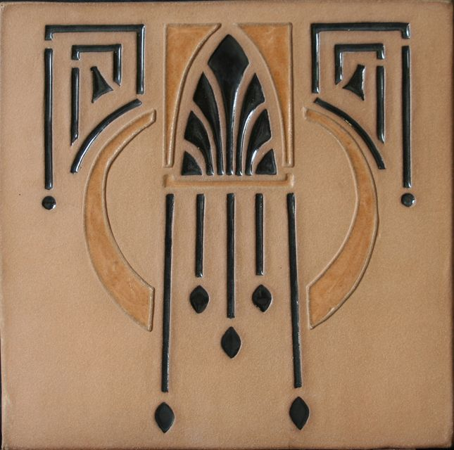 """This is referred to as """"southwest deco"""" but it would be perfect in an Arts & Crafts home."""