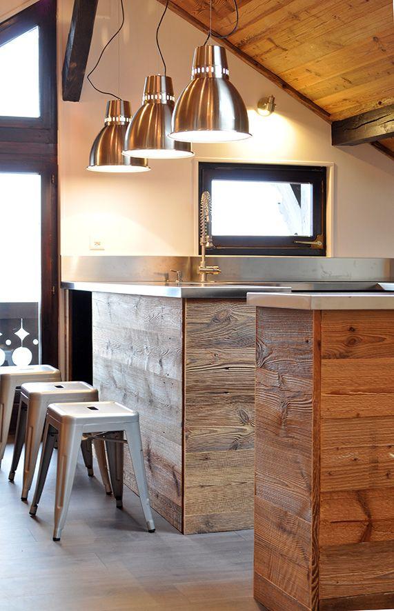 Deco Montagne Moderne. Cuisine Bois Style Montagne Deco Montagne ...