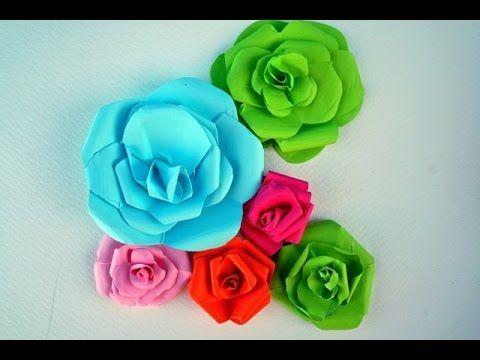 The Easiest and the Prettiest Roses (Paper Craft) اسهل و اجمل طريقة لصنع...