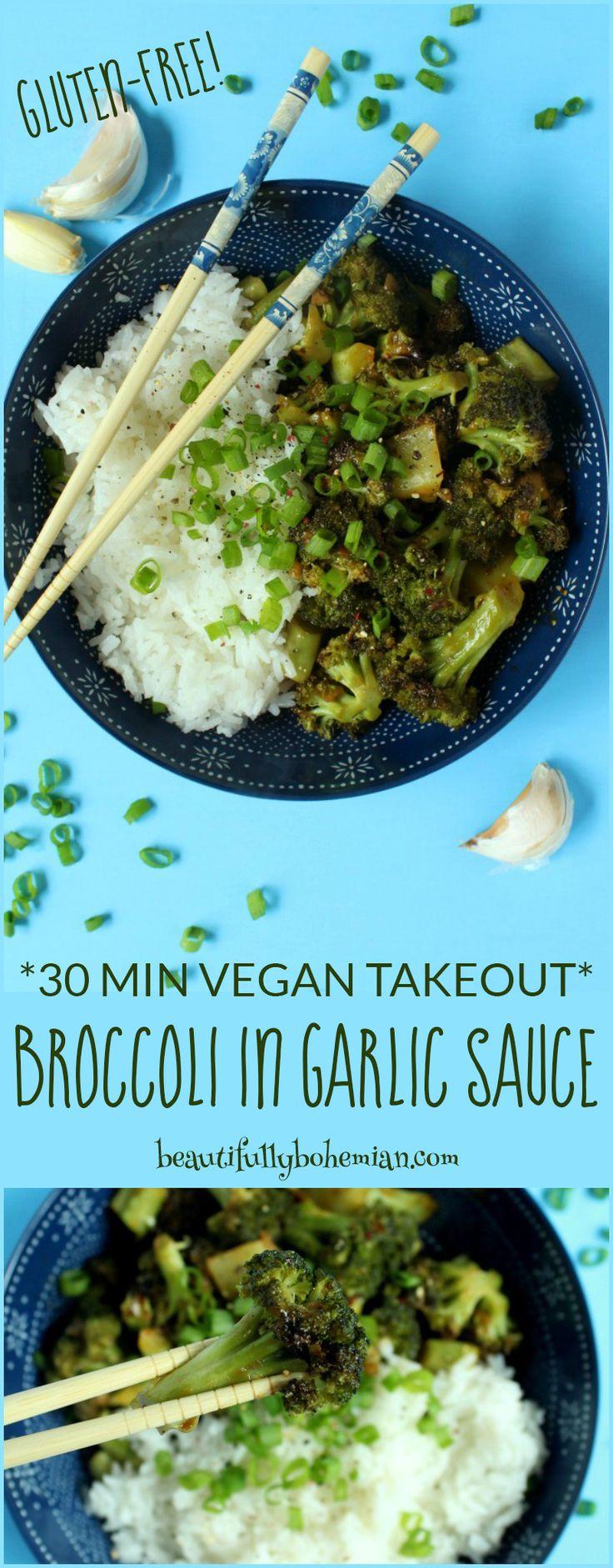 30 Minute Vegan Takeout: Broccoli in Garlic Sauce (Gluten-Free!) - Beautifully Bohemian