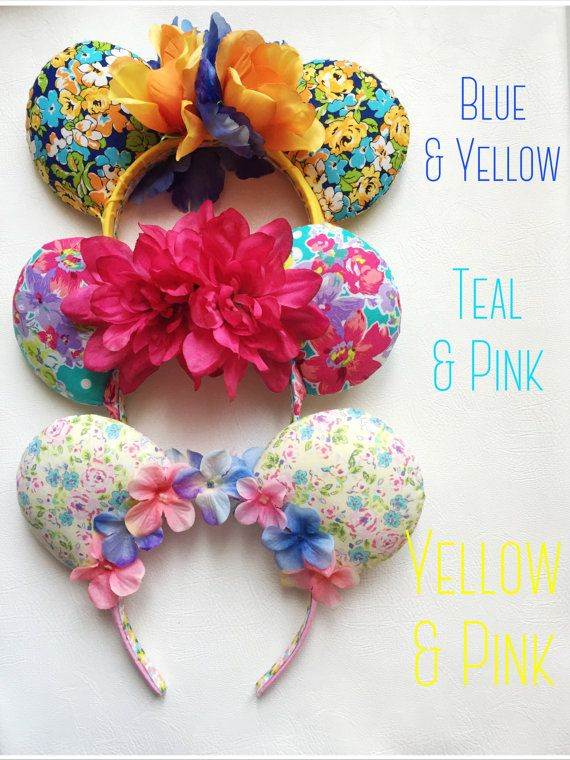 Floral Mouse Ears by TheseLittleBeauties on Etsy