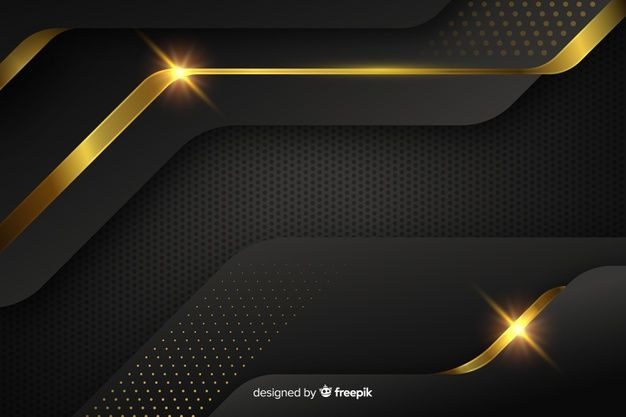 Download Dark Background With Golden Abstract Shapes For Free In
