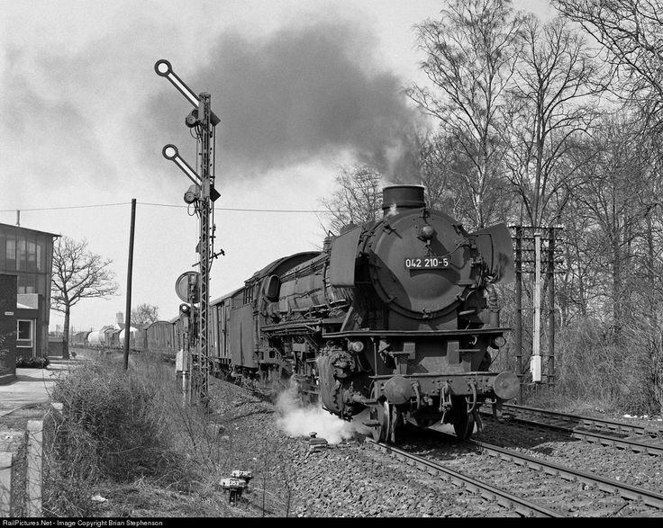 042 210-5 Deutsche Bundesbahn BR 41 2-8-2 at Rheine, Germany by Brian Stephenson