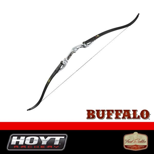 Hoyt Buffalo Recurve Bow Silver Riser Black Limbs