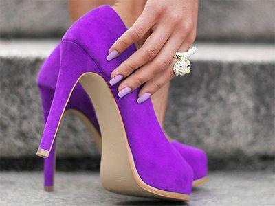 make my day heels - purple
