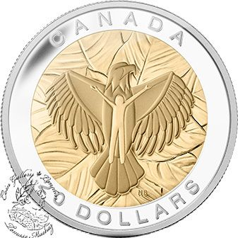Canada: 2014 $20 The Seven Sacred Teachings: Love Gold Plated Silver Coin - Coin Gallery London Store