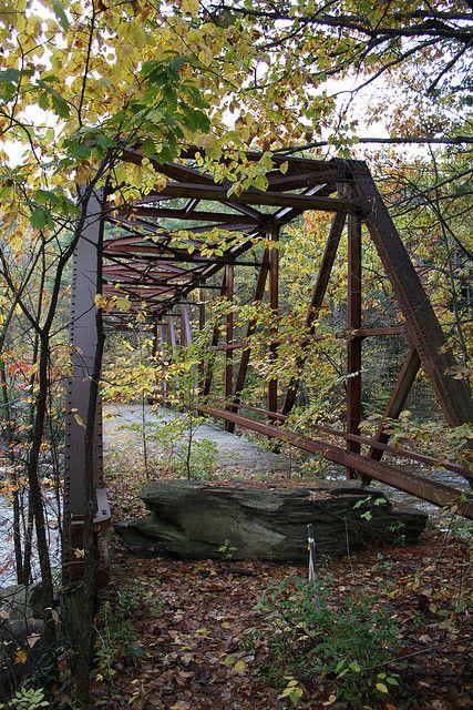 "Abandoned 1936 Pratt through truss bridge over Wardsboro Brook in Windham County, Vermont. The bridge is also known as ""Bridge 33"" Old Wardsboro Brook Truss Bridge   Flickr - Photo Sharing!"
