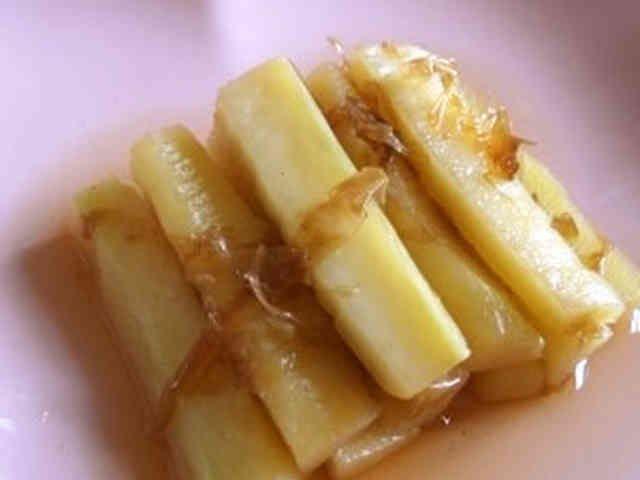 ブロッコリー茎のかつおだし醤油浸しの画像