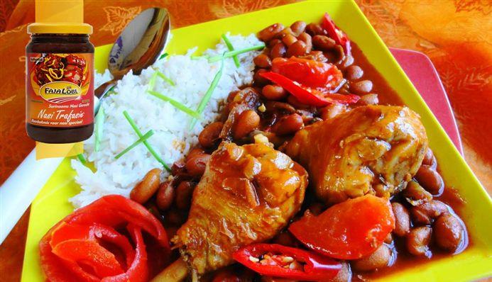 Surinaams eten – B. B. R. Drummies (bruine bonen met rijst en drumsticks)
